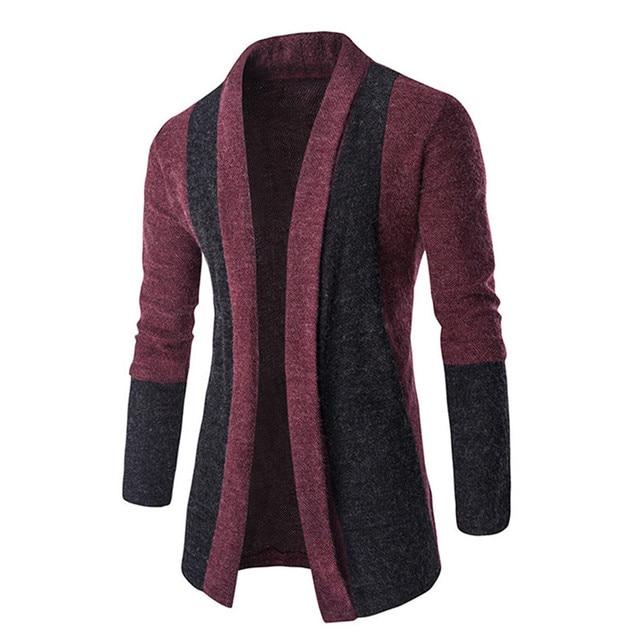 ebab2f6c1718 Verkauf Mode für Männer Strickjacke Stilvolle Mode Strickjacke männer Jacke  Dünne Lange Hülsen-beiläufige Pullover