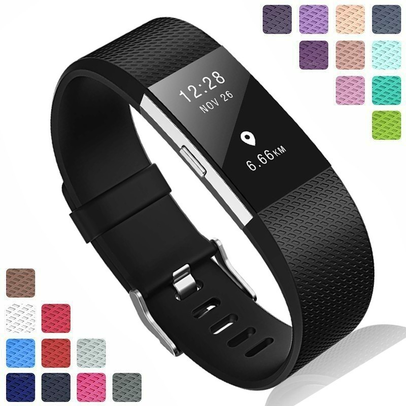 Coolaxy Silicone Replacement Bands For Fitbit Charge 2 Band Wristband Accessories Wrist Bracelet Strap For Fit Bit Charge2 Band