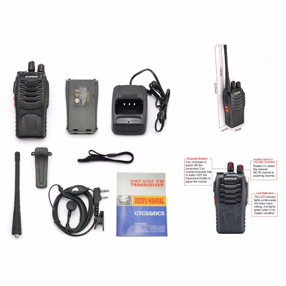 цены BF-888s UHF 400-470 MHz Handheld,BaoFeng Two Way Ham Radio Portable,Portable Radio Comunicador Transmitter,1Pc/set