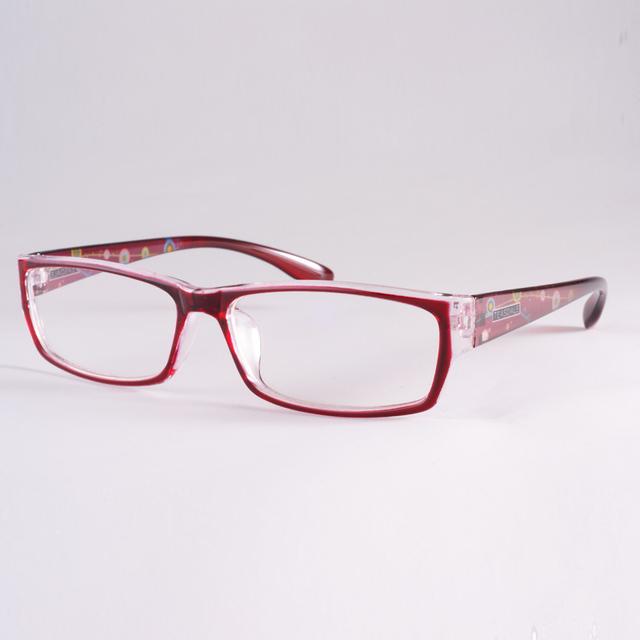 Vinho Tinto Óculos Tr90 Ultra-Leve Quadro Óculos de Lente Miopia Simples Espelho Do Vintage Decoração Feminino Roxo Armação de Acetato