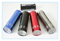 5pcs/pack black waterproof Aluminum alloy small mini flash lights outdoor flashlight factory wholesale
