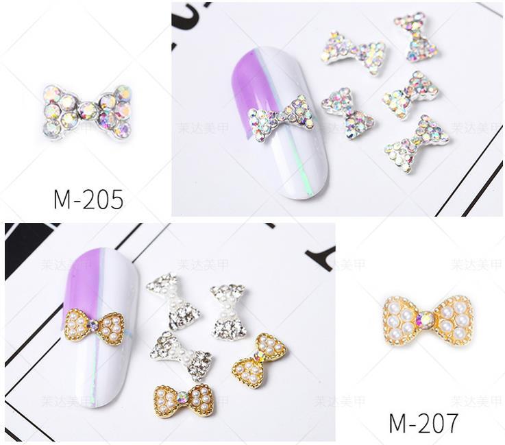 3D diamond nail art Bow Diamond dressing Big drill Plain bottom nail crystals nail Ornamental jewel rhinestones for nails