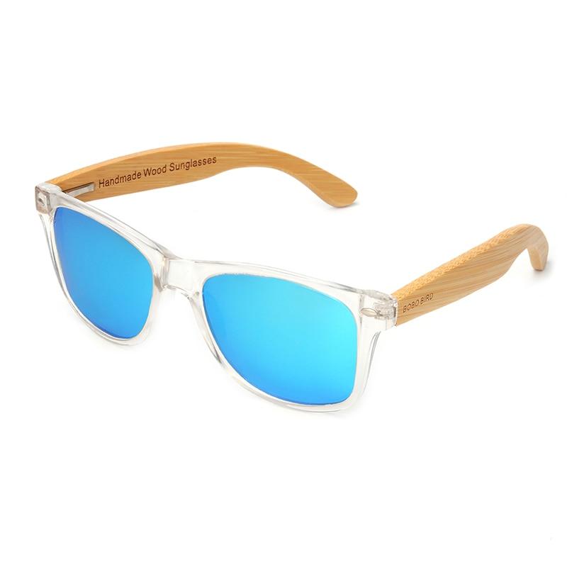 BOBO BIRD Wood Bamboo Polarized Sunglasses Clear Color Women's Glasses  With UV 400 oculos de sol feminino C-CG008 2