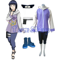Japanese Anime Naruto Shippuuden Hinata Hyuga Full Combo Set Cosplay Uniform Suit Women Girls Halloween Costumes Free Shipping