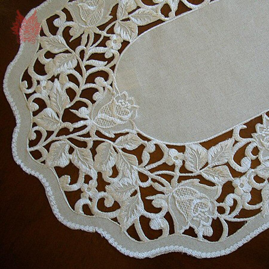 Бесплатная доставка цветочной вышивкой кружевное столбец для Рождество украшения домашнего текстиля Декор Бесплатная доставка sp3812