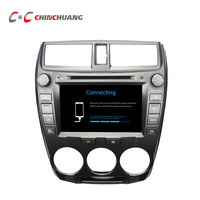 1024 600 Quad Core Android 6 0 Car DVD Player GPS For City 2008 2011 With
