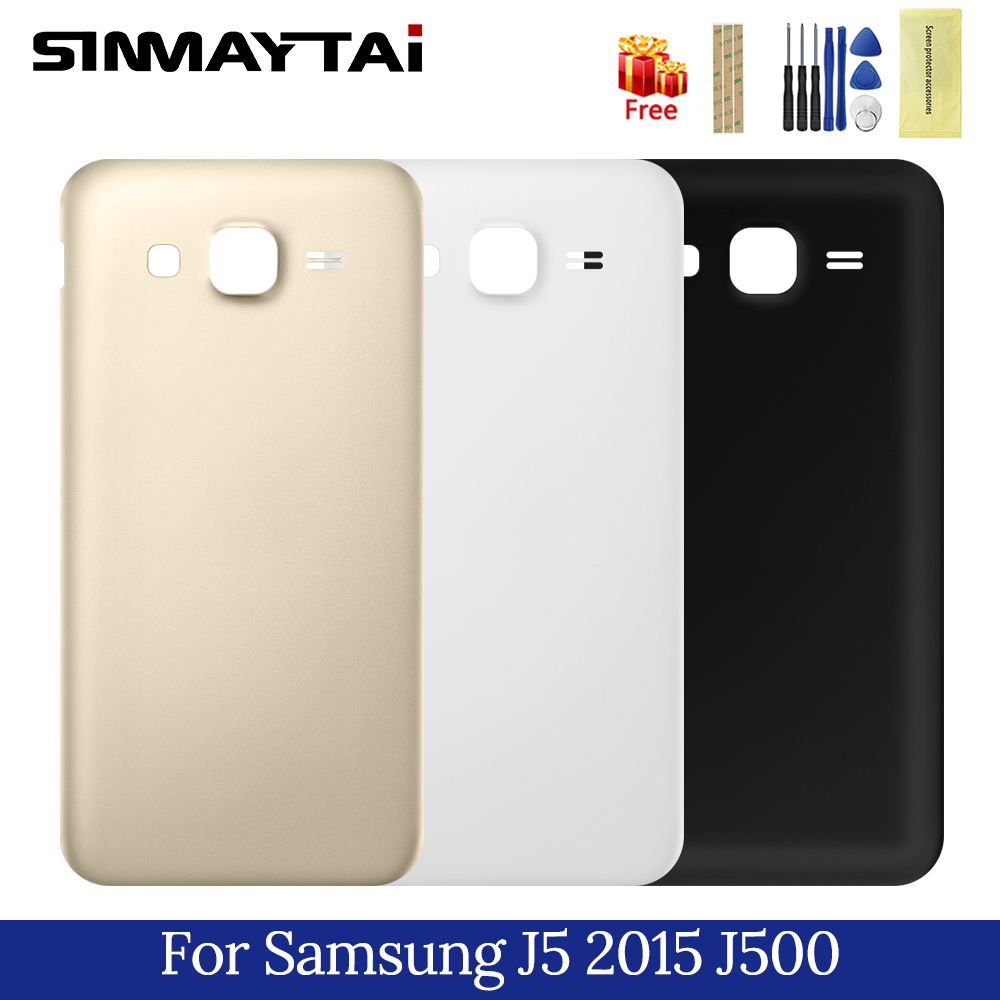 Phone Case For Samsung Galaxy J5 2015 Back Battery Cover For Samsung J500 J500F J500H Replacement Phone Parts Rear Housing Case image