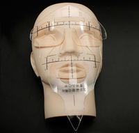 10pcs Reusable Eyebrow Stencil Makeup Micro Blading Measuring Shaper Tattoo Ruler Tool