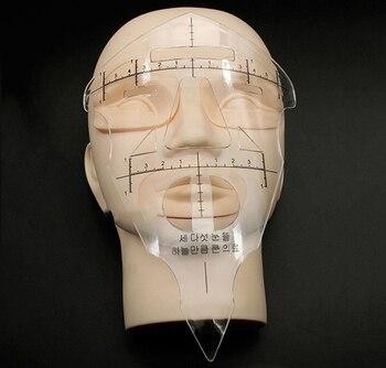 10pcs Reusable Eyebrow Stencil Makeup Micro-blading Measuring Shaper Tattoo Ruler Tool