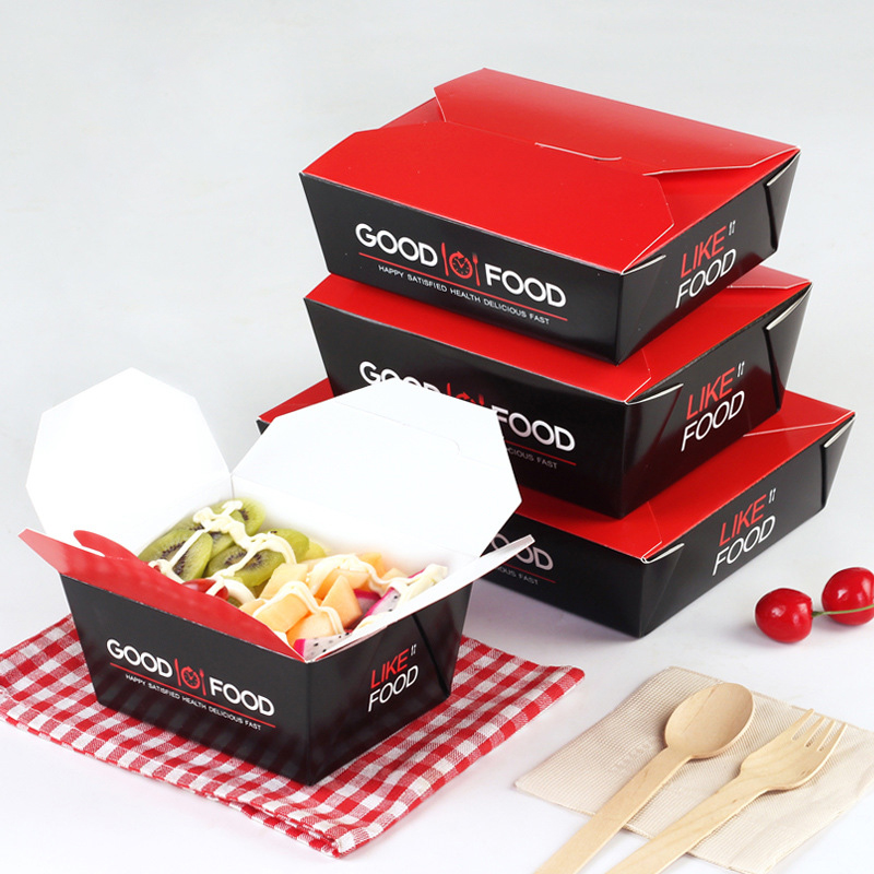 Korean Packing Box Take-out French Fries Case Fast Food Wrapping Containers Multi-Functions Cases Disposable Kitchen Utensil