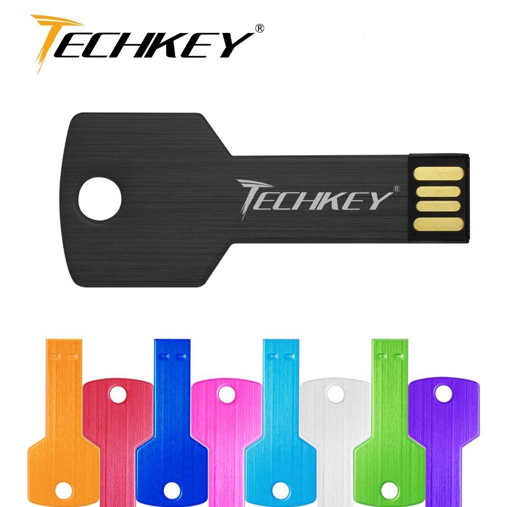 USB Flash Drive 32GB 64GB Metal Key Pendrive 16GB 8GB Waterproof Pen Drive USB 2.0 USB Stick Memory Stick USB Flash Custom Metal