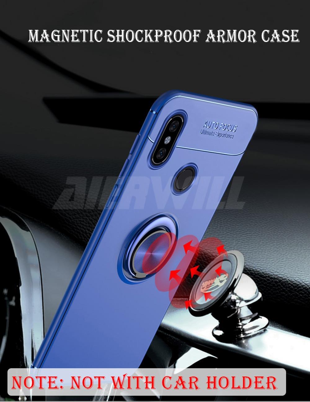 HTB1erzcXozrK1RjSspmq6AOdFXa7 Armor case For Xiaomi Mi Max 3 Case Protective Bumper Finger Ring Holder Soft Silicone Matte Back Cover For Xiaomi max 3 Cases