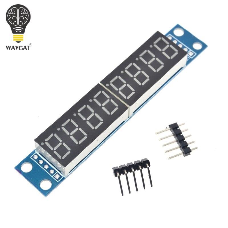 MAX7219 CWG 8-Digit Digital Tube Display Control Module Red Three IO for Arduino