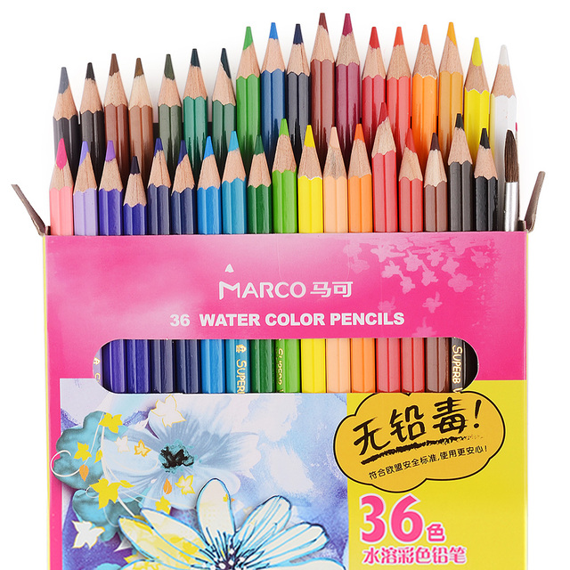 Marco 4120 24/36 Water Color Drawing Pencil Best Water Soluble ...