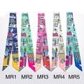 HANCREATE women silk scarfs 2017 Magic small long 100*5cm Ribbon Scarves neckerchief High quality women's bag handles JJ16050
