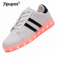 7ipupas Adults Unisex LED Shoe Men LED Casual Couple Fashion Light Up sneakers LED Luminous 11 Colors Shoes Lumineuse Chaussures