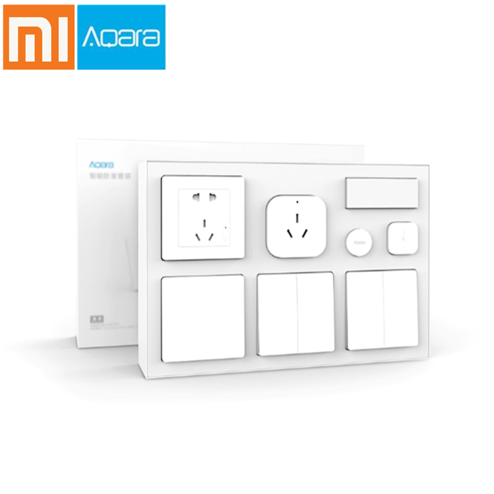Xiaomi Aqara Kits de chambre à coucher intelligente climatiseur Mate température capteur d'humidité capteur de corps prise murale interrupteur sans fil commutateur