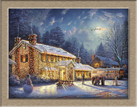 Thomas Kincaid National Lampoon S Christmas Vacation HD Print Oil Painting Wall Art Picture For Living