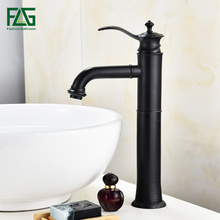 FLG Bathroom Sink Mixer Tap Water Tap ORB Single Handle Bathroom Vanity Basin Faucet Hot and Cold Water Black Faucets цена 2017