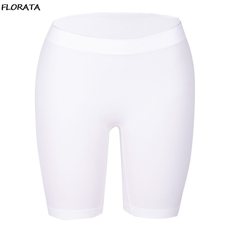FLORATA Women's Fashion Short   Leggings   Basic   Leggings   Smooth High Elasticity Plus Size Knee Length Solid Colors   Leggings   S-2XL