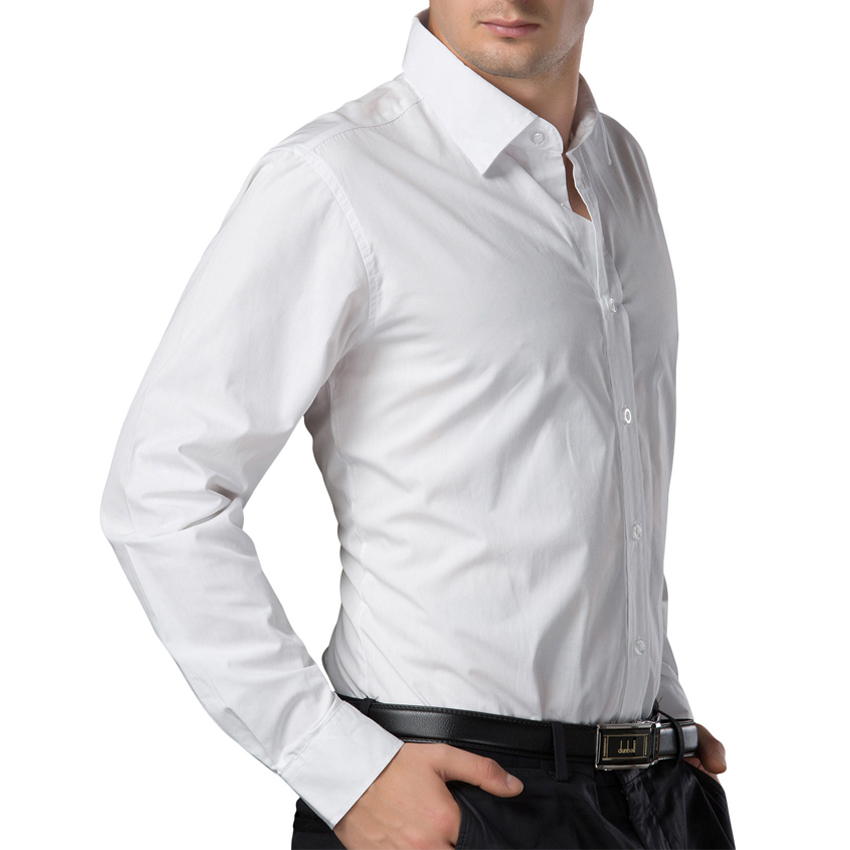 2016 White Black blue red men shirt British Style long sleeve Male Slim Casual Shirts Mens