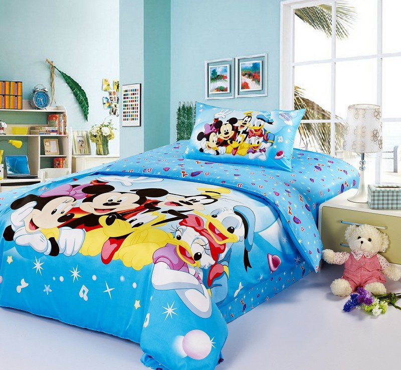 KIDS BOYS BABY mickey minnie mouse BLUE bedding comforter ...