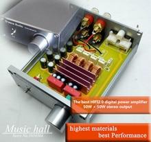 (Vente chaude de haute qualité) Dernière TPA3116 HIFI 2.0 canaux Mini Accueil Audio stéréo sortie numérique puissance amplificateur 50WX2 DIY