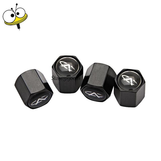 Car Accessories Auto Tire Valve Stem Caps Covers Wheels Rims Sticker For Chery Tiggo 3 5 M11 T11 A1 Amulet A3 Fora A5 Fulwin QQ