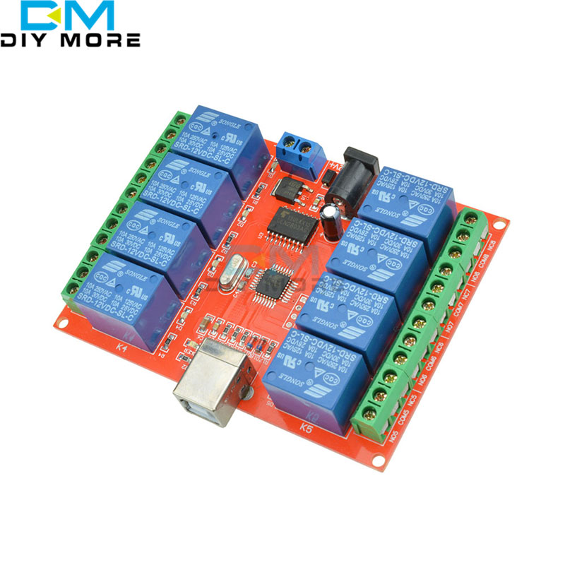 12V USB Relay 8 Channel Programmable Computer Control For Smart Home S 8 channel dc 12v relay module computer usb control switch driver pc intelligent controller for smart home