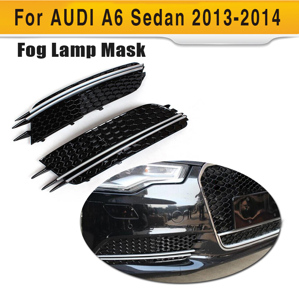 Car ABS Front Fog Lights Cover Auto Car Fog molding trims For Audi A6 2013UP