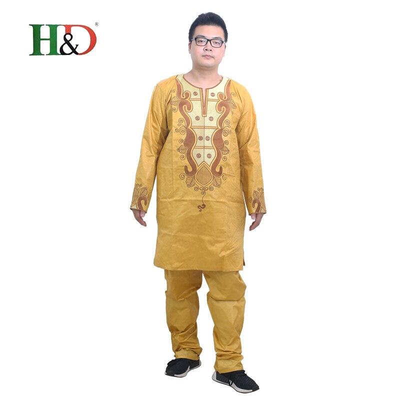 Hd Africain robe pour hommes 2017 traditionnel africain mens shirt tops vêtements robe Bazin riche broderie technologie conception vetement