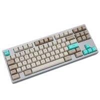 SA profil colorant sous Keycap Set PBT plastique rétro beige pour clavier mécanique beige gris cyan gh60 xd64 xd84 xd96 87 104