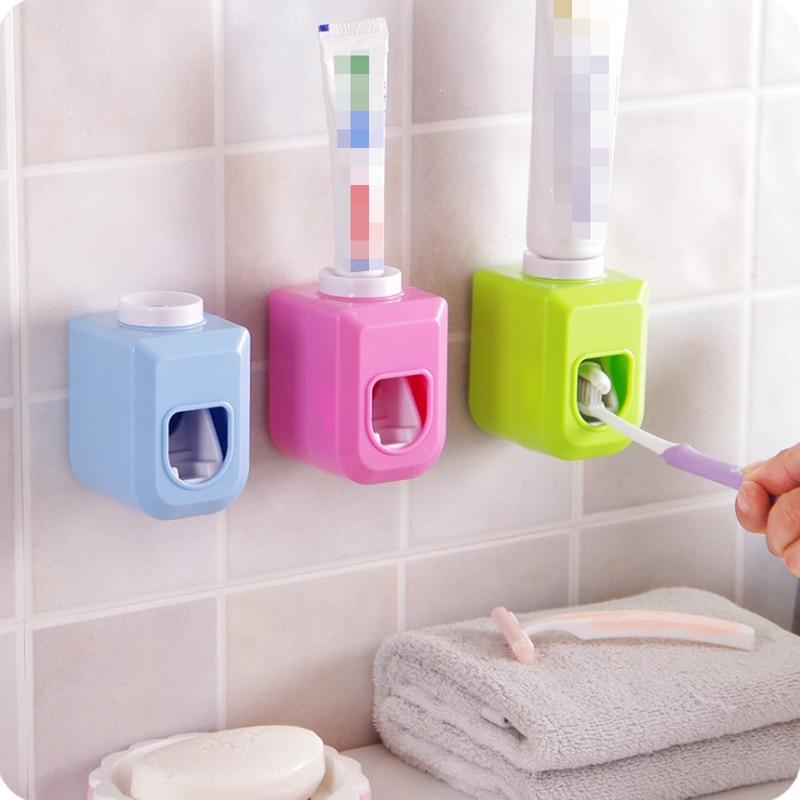 Automatisk tandkräm Dispenser tandborste tandkräm hållare tandpasta rör squeezer dispenser gratis squeeze ut badrum uppsättningar