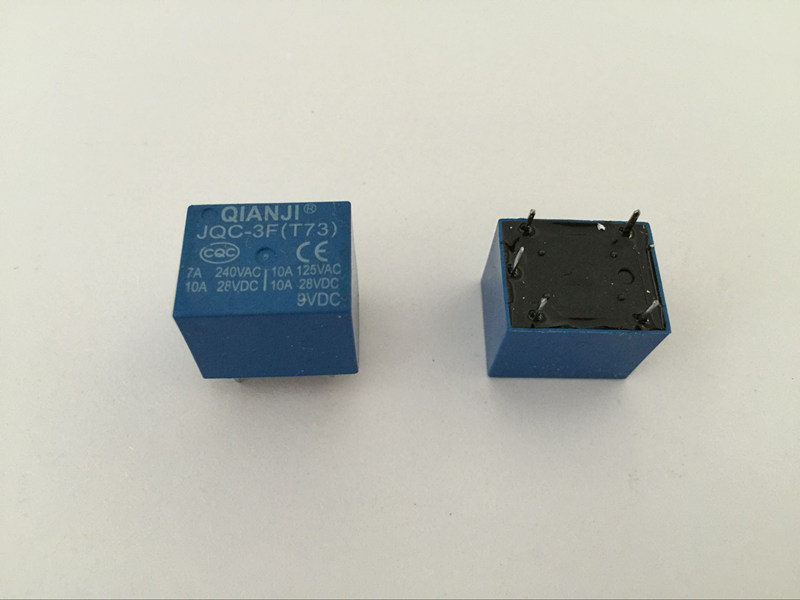 2 pieces Power Relay Coil 9VDC 9V DPDT 240VAC 24VDC Contact Rating 5A
