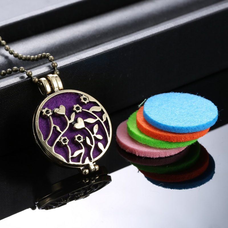 Necklace 5Pad set Perfumes And Fragrances For Women Flower Locket Necklace Perfume Fragrance Essential Oil