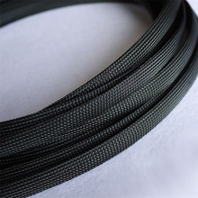 1M Black 12mm Braided PET Expandable Sleeving High Density Sheathing Plaited Cable Sleeves недорого