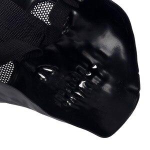 Image 5 - LHBL Airsoft מסכת גולגולת מגן מלא מסכת צבאי שחור