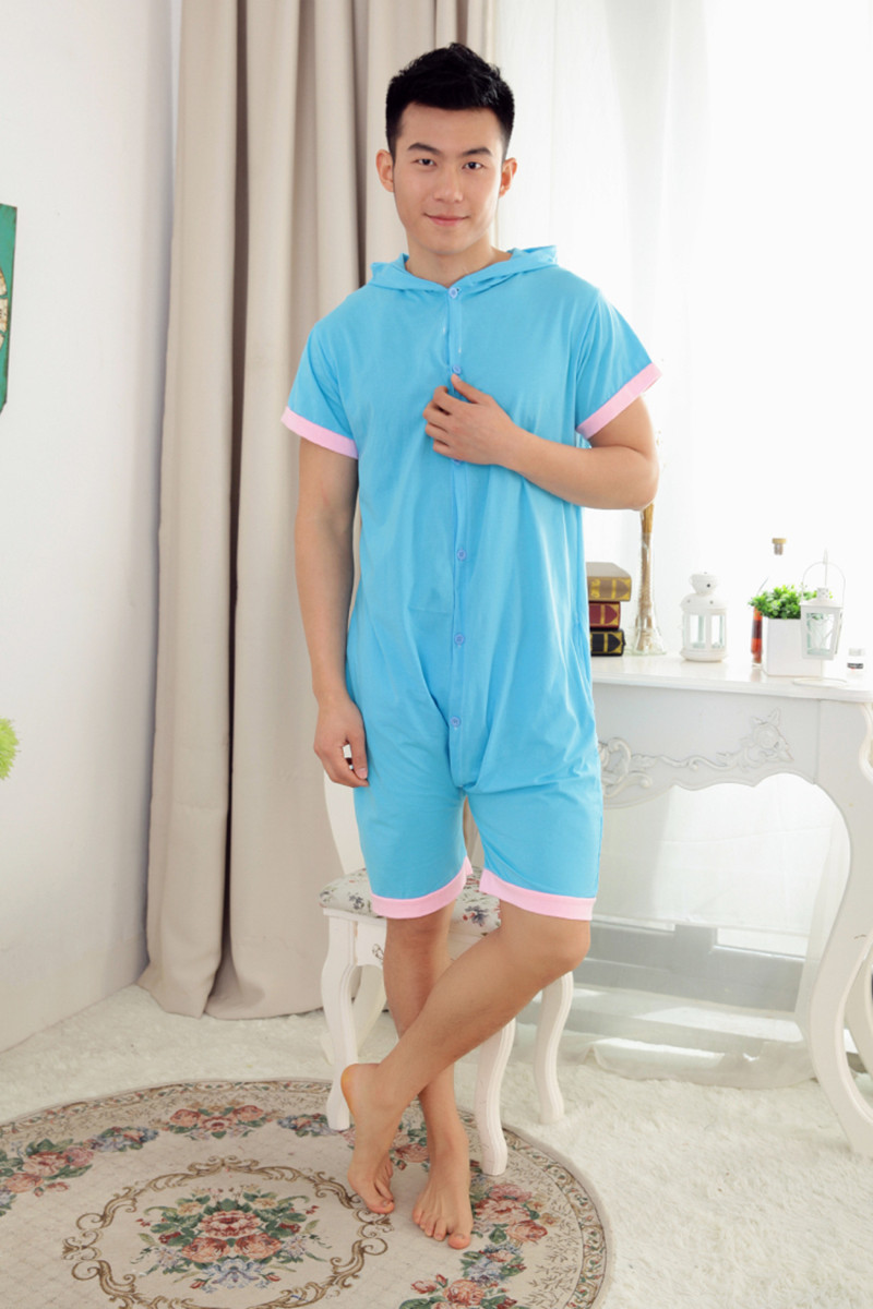 0ce50c2b04 Wholesale Summer Animal Onesies Cartoon Unisex Adult Blue Elephant Onesie  Cosplay Costume Cotton Sleepwear Pajamas Sets-in Anime Costumes from  Novelty ...