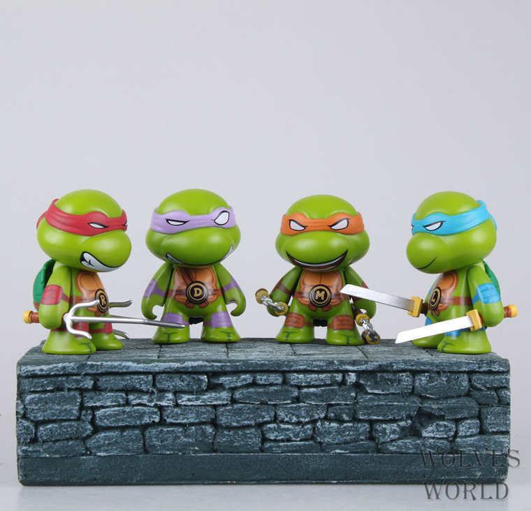 4pcs/set 8cm <font><b>Teenage</b></font> <font><b>Mutant</b></font> <font><b>Ninja</b></font> <font><b>Turtles</b></font> <font><b>TMNT</b></font> <font><b>action</b></font> <font><b>figures</b></font> Toys Brinquedos Michelangelo Donatell Raphael Free Shipping