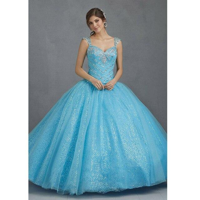 Vestido azul brilhante