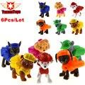 6 Unids/lote Patrulla Canina Perro Juguetes Ruso Muñeca de Anime Figuras de Acción de Coches Patrulla Patrulla Canina Cachorro Juguete Juguetes Regalos para niños