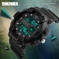 SKMEI Цифровые Часы Мужчины Многофункциональный Водонепроницаемый LED Военные Спортивные Часы Dual Time Аналоговый Цифровой Случайные Люди Наручные Часы