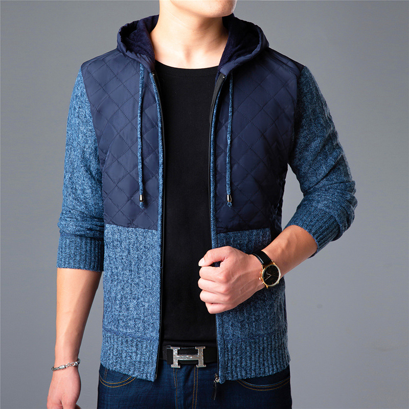 Patchwork Color New 2018 Thick Fashion Sweater Men
