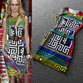 New Summer Women 2017 Unique Collection Sleeveless Vintage Slim Mini Dress Geometric Printed Plus Size XXXL Tank Casual Dresses