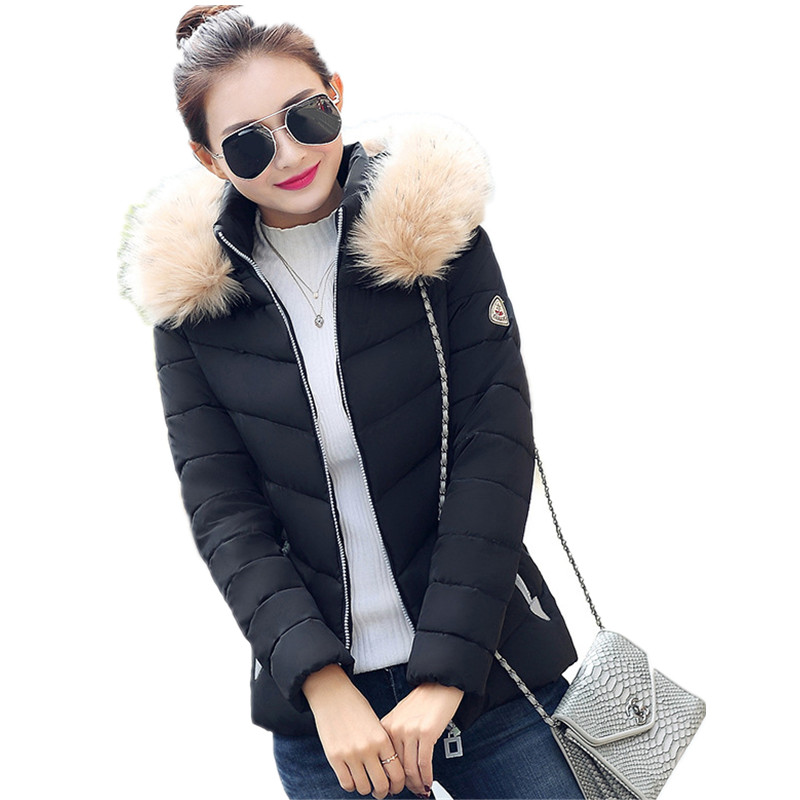 Winter font b Jacket b font font b Women b font 2015 Fashion Ladies Parkas Slim