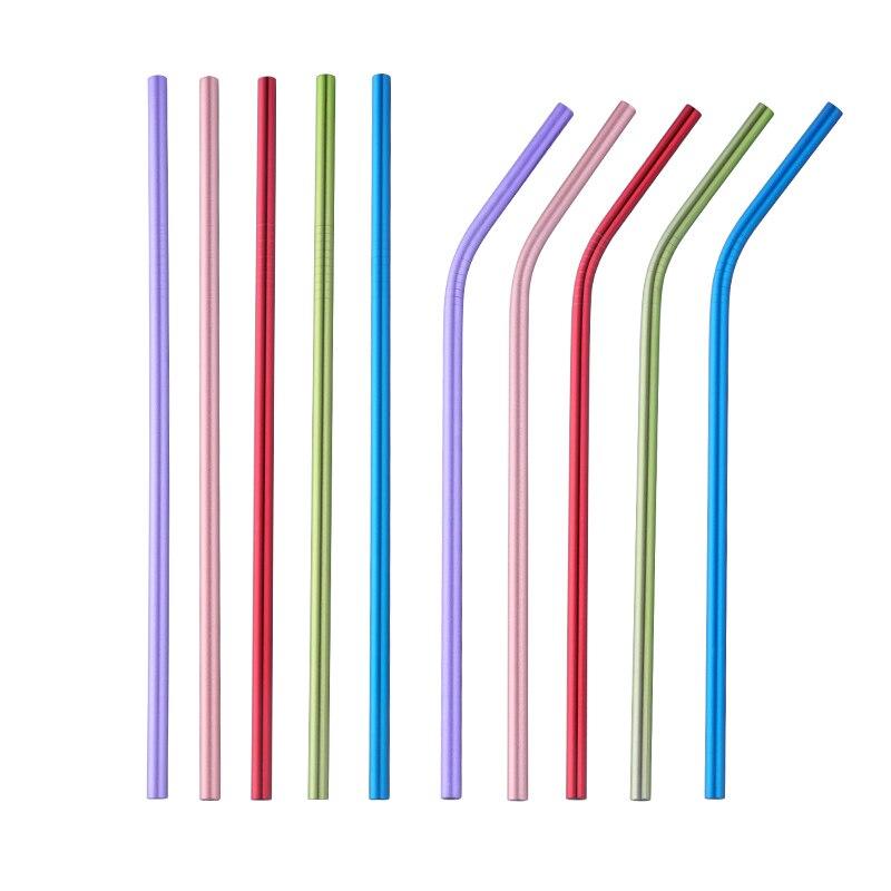 100 pz/lotto Bambini Cannuccia Cannucce Riutilizzabili Cleaner Brush Set 18 centimetri di Alta Qualità Eco-Friendly Metallo di Paglia per I Bambini
