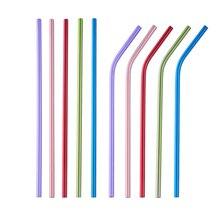100 шт./лот с трубочкой для питья для детей многоразовые трубочки Cleaner Brush Set 18 см Высокое качество эко-металлическая соломинка для детей