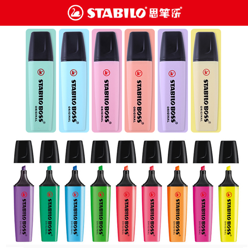 1pcs Stabilo 70 Boss Color Highlighter Children Students Key Mark With Large-capacity Color Small Fresh Primary Light Color