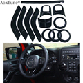 AoxFune Full Set Interior Decoration Trim Kit 18 PCS with Special Mark For Jeep Wrangler JK JKU 2011-2016 4-door Five Colors