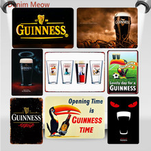 My Goodness Guinness Metal Tin Signs Dark Beer Vintage Painting Poster Pub Casino Bar Decoration Shabby Chic Home Decor WY56
